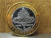ELDORADO Silver Bullion .999 FINE SILVER GAMING TOKEN